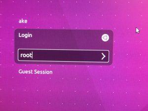 แล้วพิมพ์ user root ลงไป